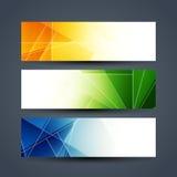 Abstract colorful web header designs. Stock Photos