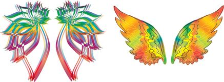 Abstract colorful wings Stock Images