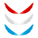 Abstract colorful wings. Illustration on white bacground stock illustration