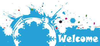 Abstract Colorful Winter Background.Welcome Banner