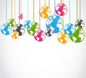 Abstract colorful world globes Stock Photo