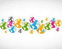 Abstract colorful world icons Royalty Free Stock Images