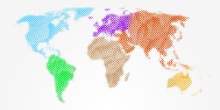 Abstract colorful world map Royalty Free Stock Photos