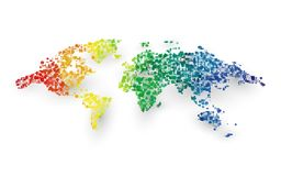 Abstract colorful world map dotted graphic design. Modern style abstract colorful world map dotted graphic design Stock Images