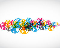 Abstract colorful world symbols. Colorful transparent world symbols abstract background Stock Photos