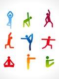 Abstract colorful yoga angles Stock Image