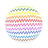 Abstract colorful zigzag lines shape. Abstract shape with colorful zigzag lines pattern on white background vector illustration