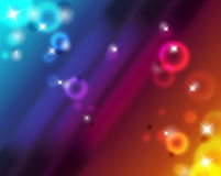 Abstract colorfull background. Illustration with shine and bokeh Stock Photography