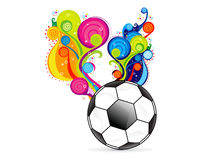 Abstract colorfull football explode Royalty Free Stock Photos