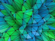 Abstract colorfull Geometrical Background .Futuristic technology Royalty Free Stock Photography