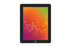 Abstract colorfull ipad image background Royalty Free Stock Photography