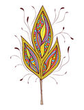 Abstract colorfull  leaf on white background Stock Photo