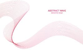 Abstract colorfull wave element for design. Digital frequency track equalizer. Stylized line art background.Vector illustration. Wave with lines created using royalty free illustration