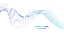 Abstract colorfull wave element for design. Digital frequency track equalizer. Stylized line art background.Vector illustration. Wave with lines created using stock illustration
