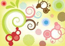 Abstract colorfully background. Illustration of the abstract swirly background vector illustration