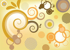 Abstract colorfully background. Illustration of the abstract swirly background royalty free illustration