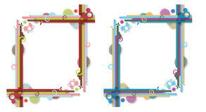 Abstract colorfully frames. Abstract illustration of the two different colour frames royalty free illustration