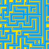 Abstract colorl seamless pattern resembling a maze Stock Photography