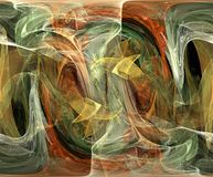 Abstract Colors. Abstract of shapes, colors and textures that flow and blend together Stock Images