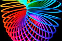 Abstract colors. And pattern on black background Stock Image