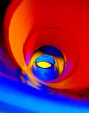 Abstract colors. Mix of colors inside a chute (toboggan Stock Photo