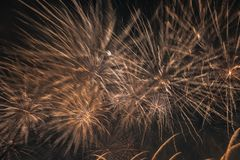 Abstract Colors Blurry Fireworks Lights Stock Image