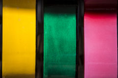 Abstract Colors. Abstract of colored acoustic guitars Stock Images