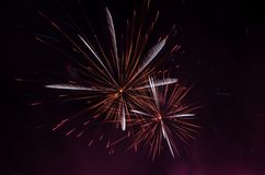 Abstract Colors Fireworks Lights Royalty Free Stock Images