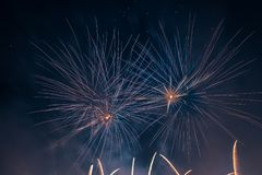 Abstract Colors Fireworks Lights Royalty Free Stock Photography