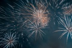 Abstract Colors Fireworks Lights Stock Photos