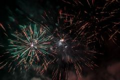 Abstract Colors Fireworks Lights Stock Photography
