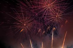 Abstract Colors Fireworks Lights Stock Images