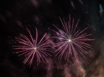 Abstract Colors Fireworks Lights Stock Image