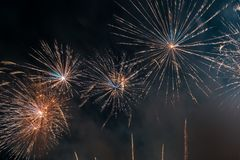 Abstract Colors Fireworks Lights Royalty Free Stock Photo