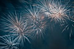 Abstract Colors Fireworks Lights Stock Photo