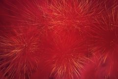 Red Fireworks Lights Royalty Free Stock Photo