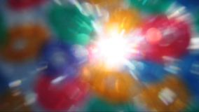 Abstract colors lens flare stock video
