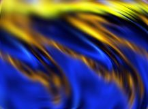 Abstract blue gold yellow colors and background. Lines in motion. Abstract colors and lines in motion, gold, blue, yellow hues. Creative curves and shining Stock Images