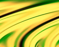 Abstract green yellow colors and background. Lines in motion. Abstract colors and lines in motion, green, phosphorescent, dark, yellow hues. Creative curves and Royalty Free Stock Photography