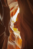 Abstract Colors: Slot Canyon,Looking Up Royalty Free Stock Image