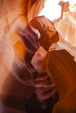 Abstract Colors:Maroon/Orange Slot Canyon Walls Stock Photo
