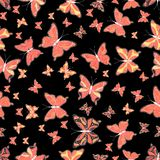 Abstract colors picture. Beautiful butterfly vector pattern illustration design. Pictures in black, orange and pink colors vector illustration