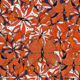 Abstract colors picture. Beautiful butterfly vector pattern illustration design. Pictures in orange, white and black colors vector illustration