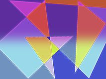 Abstract colors of sails Royalty Free Stock Images