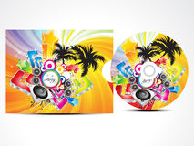 Abstract colorufl musical cd cover Stock Image