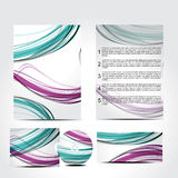 Abstract colorul brochure with wave Royalty Free Stock Photos