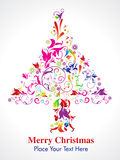 Abstract colorul christmas  tree in floral. Illustration Stock Images