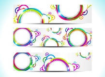 Abstract colorul web banner Stock Images