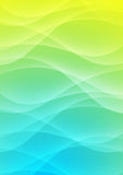 Abstract colour background. With the smooth bent lines royalty free illustration