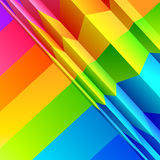 Abstract Colour Bands Royalty Free Stock Photo